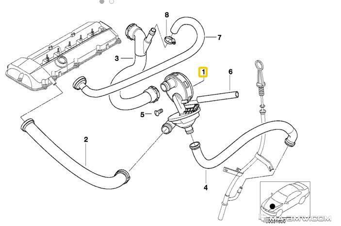 Reniflard Du Carter BMW 3 3 Série E90 E93 E92 E9 330d 5 E60 E61 530d X3 X5 3.0d
